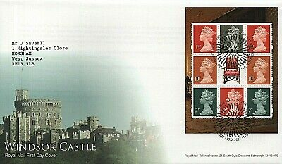 GB Stamps 2017 DY20 Windsor Castle Booklet pane First Day Cover