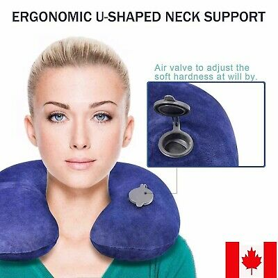 Travel Pillow Neck Rest Infatable Airplane Neck Pillow Comfortable Car Driving