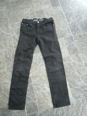 "H&M Boys Black ""Skinny Stretch"" Jeans ~ Age 12 13 years (with elasticated waist)"