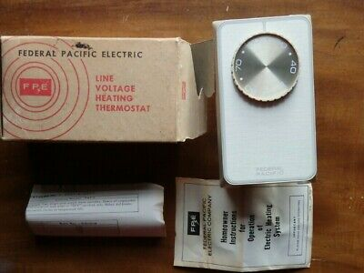 Line Voltage Fan Cooling Thermostat PMF-1 Federal Pacific//Reliance Electric