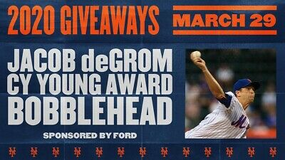 New York Mets Tickets Vs Nationals March 29 2020 1pm Degrom Bobblehead Sec 338