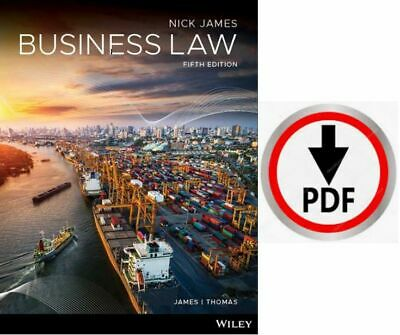 Business Law Nickolas James 5th Edition 2020