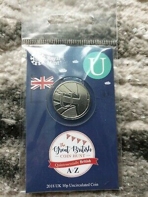 2018 UK A-Z Royal Mint bunc/Unc/Bu 10p Sealed Pack. Letter U - Union Flag