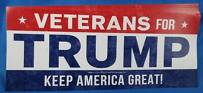 Wholesale Lot Of 20 Veterans For Trump Keep America Great 2020 Stickers Gop Usa