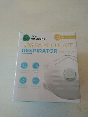 Eco Solutions N95 Particulate Respirator Mask Exhalation 1 box of Valve 10 masks