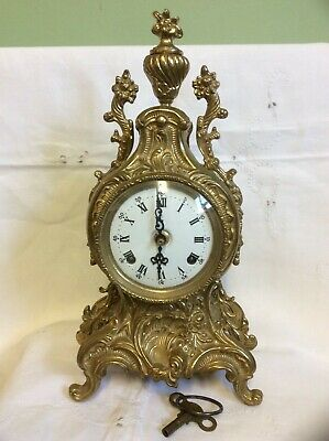 Antique? Vintage  Hermle Mantel Clock Twin Bell Strike F.h.s 130-070 Req Work !
