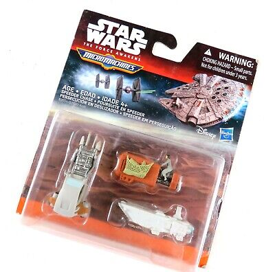Star Wars The Force Awakens Micro Machines 3-Pack Speeder Chase, NIP