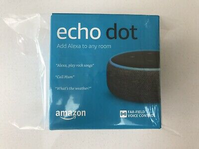 Amazon Echo Dot (3rd Generation) Smart Speaker With Alexa - Charcoal NEW Sealed