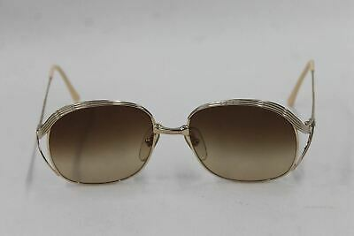 CHRISTIAN DIOR Ladies Gold Toned Metal Vintage Oval Sunglasses 55-17-130