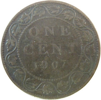 1907 H - Canada - One Cent Coin - Free Shipping !!! - #598