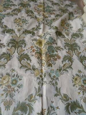 A Wonderful Antique French Brocade With Metallic gold Fabric ~ Floral