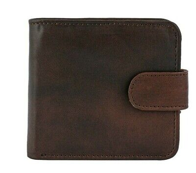 Dark Brown Bi Fold Real Leather Wallet For Men with RFID Secured Protection