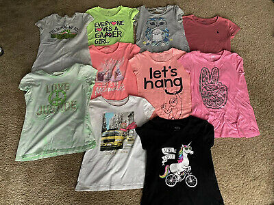 Justice Huge Lot Girls Size 10 ,Shirts Tops Graphic T-shirts, Pants , Tank Tops