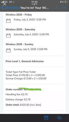Wireless Festival Friday Ticket 2020 Sold Out