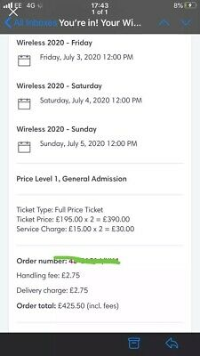 Wireless Festival Sunday Ticket 2020