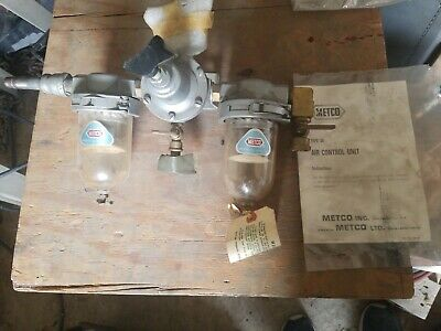 METCO DUAL OUTLET AIR CONTROL  UNIT REGULATOR  TYPE 3a
