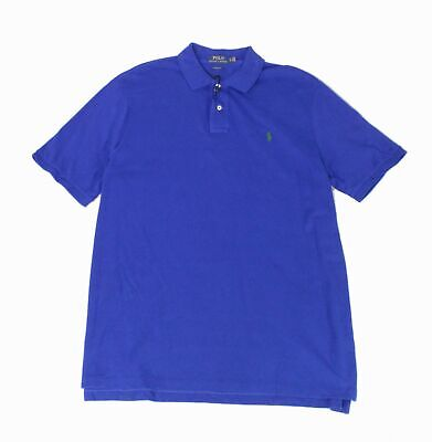 Polo Ralph Lauren Mens Shirt Blue Size Medium M Classic Fit Polo Rugby $85 #090