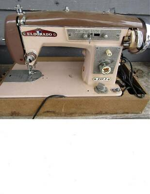 ELDORADO MODEL 940B ZIG ZAG PORTABLE ELECTRIC SEWING MACHINE w/case & foot pedal