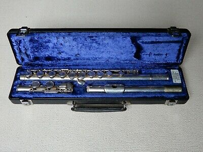 Buffet Crampon Paris Flute Cooper Scale 225 E Silver Plated inc Hard Case c.1985
