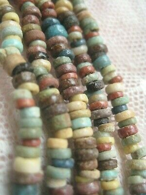 Genuine NILE Ancient Egyptian Amulet Double Strand Mummy Bead Necklace