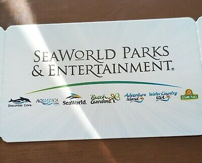 Seaworld parks & Entertainment one day tickets