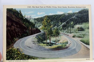 Great Smoky Mountains National Park Walker Prong Road Turn Postcard Old Vintage