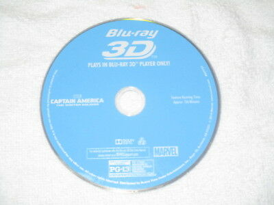 3D Movie Blu Ray CAPTAIN AMERICA WINTERS SOLDIER MARVEL COMICS DISC ONLY *//*