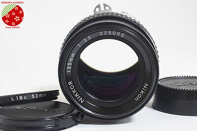 ●Near Mint Nikon Ai NIKKOR 135mm f3.5 MF Manual Focus Telephoto Lens from Japan●