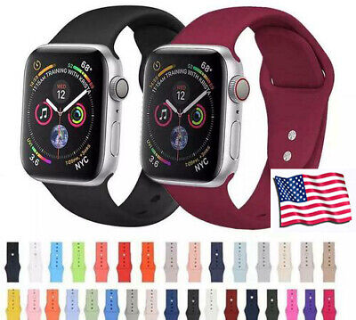 For Apple Watch iWatch Strap Band Series 5 4 3 2 1 Comfortable Silica gel Sport