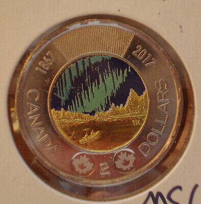 2017 Northern Light, Glow In The Dark 150 Years Of Canada, Coin Is Uncirculated