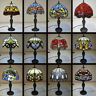 """Tiffany Antique New Designed Table Lamp Hand Crafted 10"""" Shade Lamp Multi Colors"""