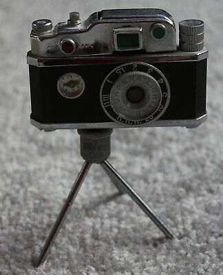 Vintage Kkw Camera Lighter With Tripod, Excellent Condition