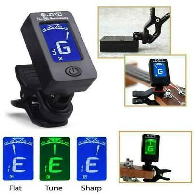 Electronic Digital LCD Clip-On Tuner for Chromatic Bass, Guitar, Ukulele, Violin