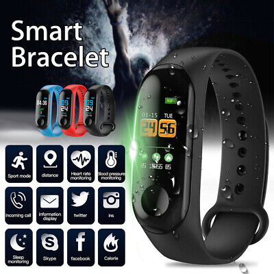 For iOS Android Blood Pressure Heart Rate Monitor Bracelet Wristband Smart Watch