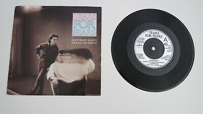 "Tears For Fears-Everbody Wants To Rule The World 7"" Vinyl Single"