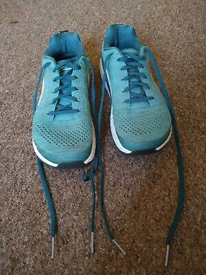 Women's teal Alta road running shoes, size 5.5 (uk), worn once