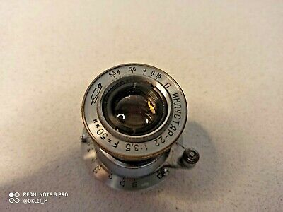 RUSSIAN USSR INDUSTAR-22 TUBE COLLAPSIBLE RANGEFINDER LENS f3.5/50 M39 mount
