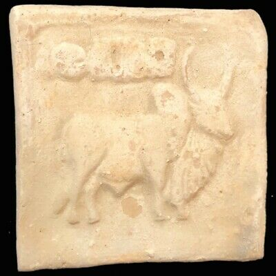 Rare Ancient Terracotta Harappa Indus Valley Bull Stamp 2500-2000 B.C. (2)