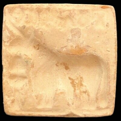 Rare Ancient Terracotta Harappa Indus Valley Bull Stamp 2500-2000 B.C. (3)