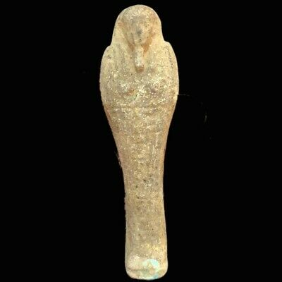 ANCIENT EGYPTIAN HIEROGLYPHIC SHABTI (1) Large Over 10.5 cm !!!!