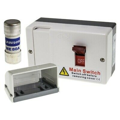 Brand New Lewden Msf100 Switch Fused Isolator 80A 100A Dp 240V Mains Isolation