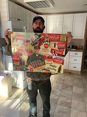 2019 Complete Finished Back Coca-Cola 1000 Piece Puzzle Coke Sign
