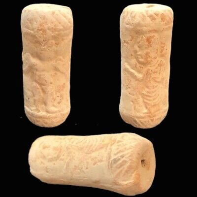 Ancient Terracotta Harappa Indus Valley Cylinder Artefact 2500-2000 B.C. (1)