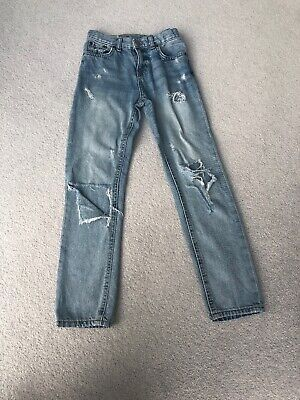 Ralph Lauren Polo Boys Jeans Age 7 Years. Blue, Ripped Distressed Look.