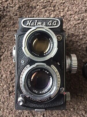 Vintage Halma 44 TLR Camera Rara Zunow 2.8 Lens With Case