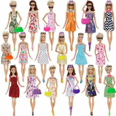 42 item/set Doll Accessories Clothes Glasses Necklace Shoes for Barbie Doll Gift