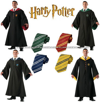 Harry Potter Gryffindor Cape Cloak Tie Set Cosplay Carnival Party Costume New