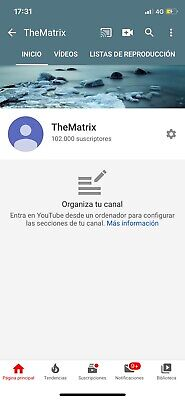 Canal Youtube 100k