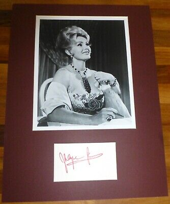ZSA ZSA GABOR-A Hand Signed Card Presented With A Photo-Mounted & Matted,COA