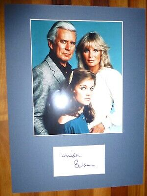 LINDA EVANS-Hand Signed Card is Presented With A Photo-Mounted & Matted,COA